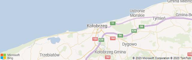 Kołobrzeg, West Pomerania, Poland Map