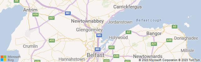 Newtownabbey, Northern Ireland, United Kingdom Map