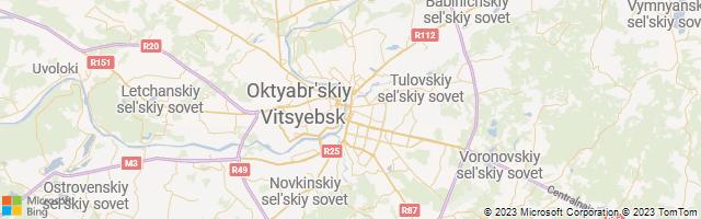 Vitebsc, Vitsyebskaya Voblasts', Belarus Map