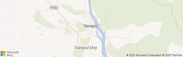 Sarapul, Udmurt, Russia Map