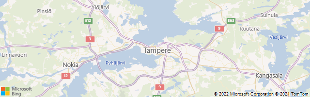 Tampere, Western Finland, Finland Map
