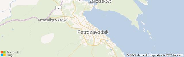 Petrozavodsk, Karelia, Russia Map