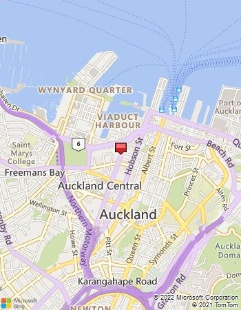 Map of Avis Location: Auckland City