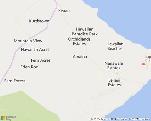 Big Island Hawaii Puna Real Estate Maps Information - Map of hawaii in relation to us