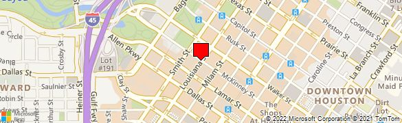 Map 77002.Wells Fargo Bank At 1000 Louisiana St Tunnel Level In Houston Tx 77002