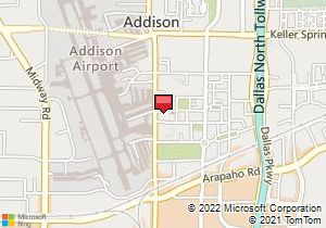 Addison Tx Texas Aerial Photography Map 2014