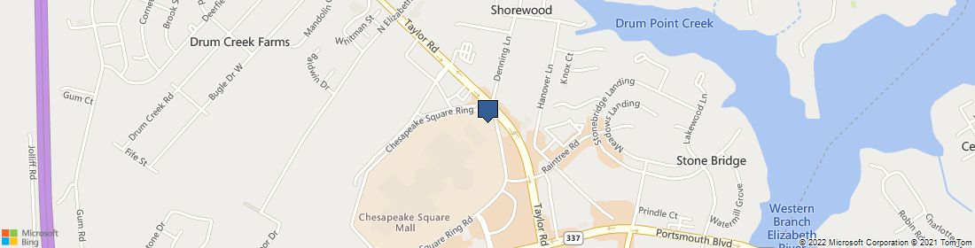 map for cinemark chesapeake square and xd