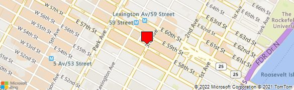Bank location centered on map for 731 lexington ave new york ny 10022