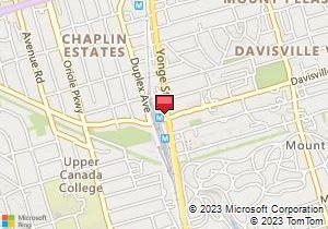 Avis Toronto Canada Map Avis Toronto Car Rentals   Yonge & Davisville