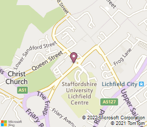 Premier Inn Lichfield City Centre Map