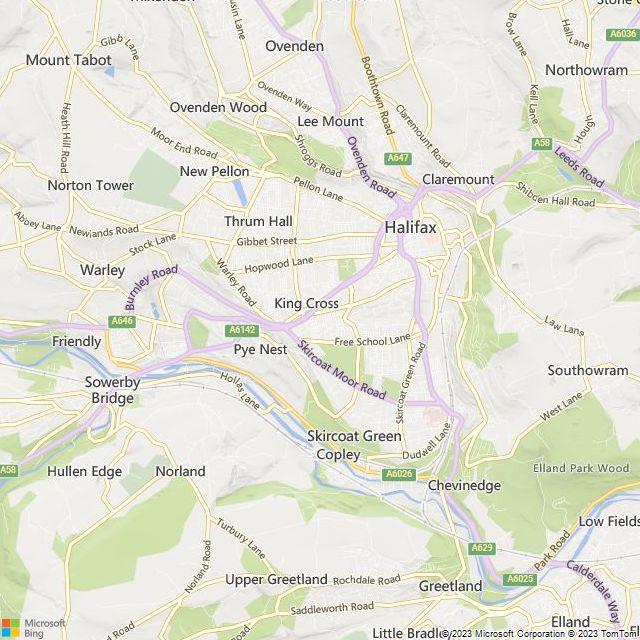 halifax yorkshire england map