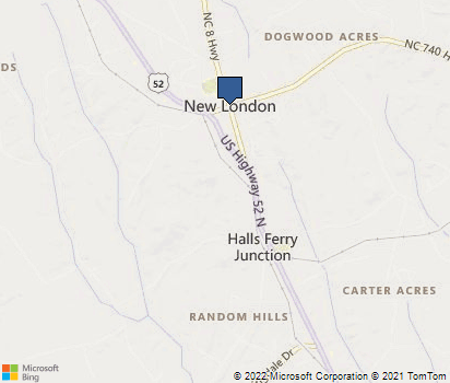 New London Nc Map.New London Nc In Stanly County Homefacts